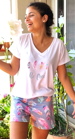 Pijama Short Be Free (Solo) (Outlet)