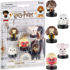 Conjunto com 5 Carimbos Harry, Edwiges, Sirius, Dobby e Luna - Harry Potter