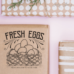 C010 - Fresh Eggs - Lady Stamp