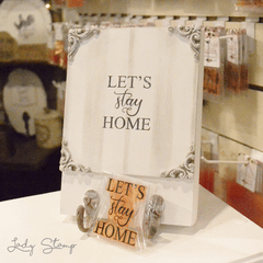 F713 - Let´s stay home - Lady Stamp