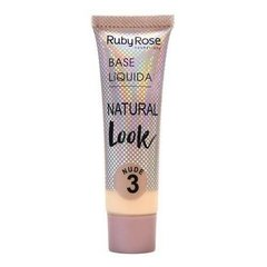 Base Líquida Natural Look Ruby Rose - Cor Nude 3