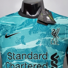 Camisa Liverpool away PLAYER 2020/2021 na internet