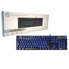 Teclado Gamer Mecânico Hp Gaming Gk400f Preto Led Blue Switch Blue (Br) - 7ZZ93AA