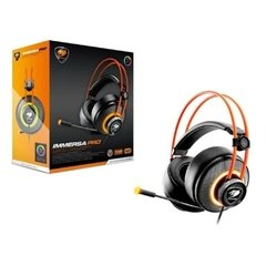 Headset Gamer Cougar Gaming Immersa Pro Preto Rgb Usb Dolby Digital Surround 7.1 - CGR-U50MB-700