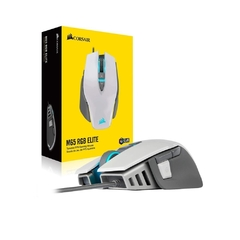 Mouse Gamer Corsair Gaming M65 Elite Branco Rgb 18.000 Dpi Óptico - CH-9309111-NA