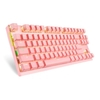 Teclado Gamer Mecânico Motospeed Gk82 Compacto Bluetooth Rosa Switch Outemu Blue Led Branco (Us) - FMSTC0050AZL
