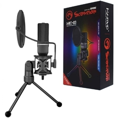Microfone Gamer Marvo Scorpion Mic-03 Streamer Usb - MIC-03