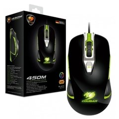 Mouse Gamer Cougar Gaming 450M Black/Green RGB 5.000 DPI Óptico - MOC450B