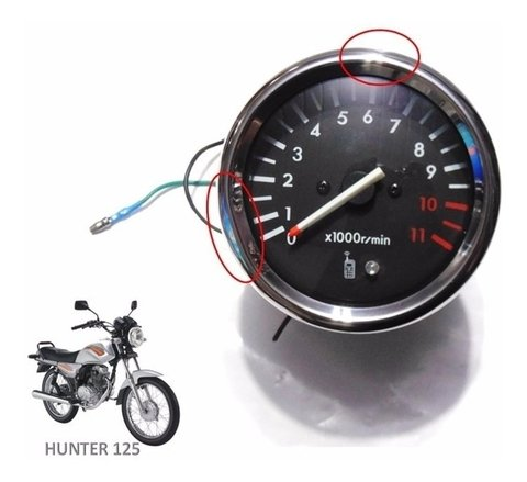Tacômetro Conta Giros Original Sundown Hunter 125 Amassado