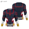 Camisa Manga Longa Uniforme All Might Young Age