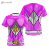 Camisa Uniforme Power Ranger Pink