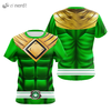 Camisa Uniforme Power Ranger Green