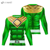 Camisa Manga Longa Uniforme Power Ranger Green