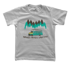 Camiseta Infantil Happiness Only Real When Shared | Nos Alpes