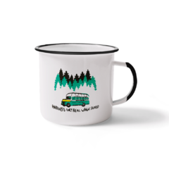 Caneca Esmaltada Happiness Only Real When Shared | Nos Alpes