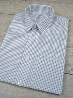 Camisa Manga Curta check grey