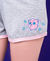 Pijama Sleep Until Next Summer Unissex - Camiseta Branca - Short Mescla e Rosa