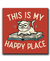 Placa Decorativa 20x20 - This Is My Happy Place
