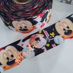 Fita gorgurão 38mm estampada personagem MINNIE