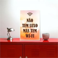 placa decorativo com frase divertida