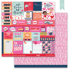 Folha para Scrapbook In Review 2020 - Folha Cards   - Lari Batista