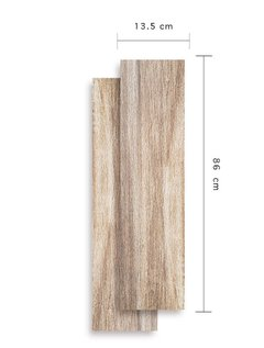 Porcellanato Simil Madera Itagres 13,5x86,5 Wooden Walnut Hd