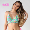 Crop Top Sofi Aqua Flamingos