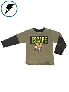 Remera ESCAPE Verde c/Tigre Bifaz en internet