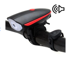 Luces Bicicleta Led Linterna Con Pito Recargable 250 Lm - Outlet Motero