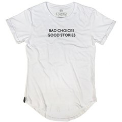 Camiseta Longline Bad Choices na internet