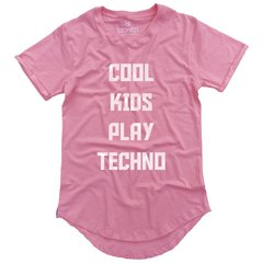 camiseta longline rosa cool kids play techno