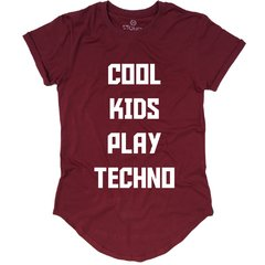 Camiseta Longline Cool Kids Play Techno - Stoned Shop