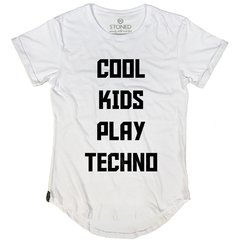 Camiseta Longline Cool Kids Play Techno na internet