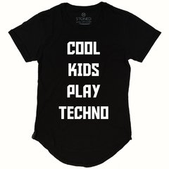 Camiseta Longline Cool Kids Play Techno