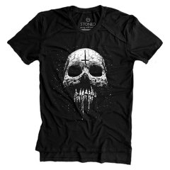 Camiseta Longline Gold Melting Skull