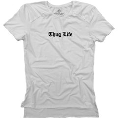 Camiseta Longline Gold Thug Life - Stoned Shop