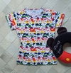 T-shirt Blusinha Camiseta Feminina Colorida Mickey