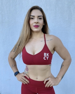 Conjunto Power Clean Red Passion - Black Cherry Fitwear