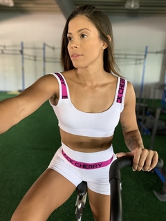 Conjunto Push Press Branco - Black Cherry Fitwear