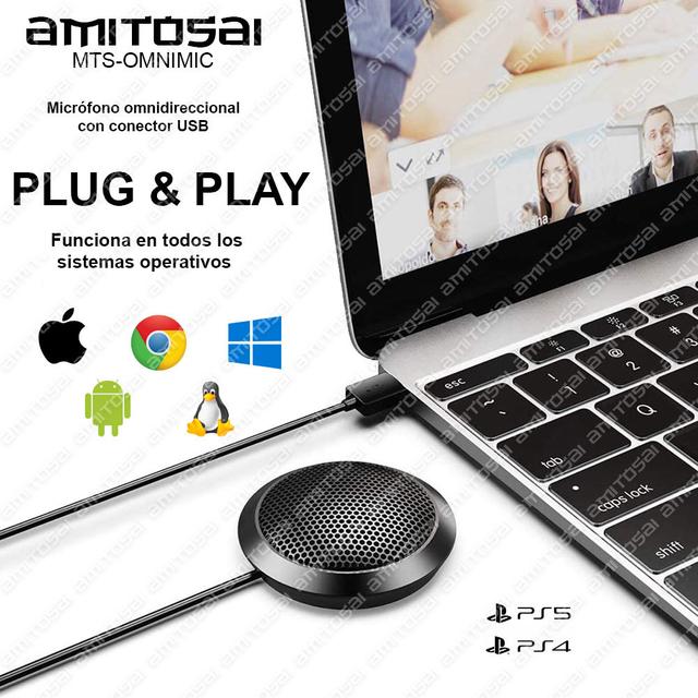 Micrófono plug and play usb