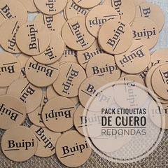Packs Etiquetas de cuero redondas 2,8 mm