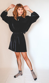 Blusa leveza veludo // ALL BLACK