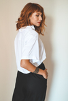 CAMISA NEUTRA CROPPED // ALL WHITE