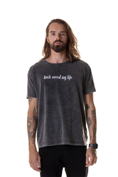 T-shirt Estonada Rock Saved my Life - Masculina