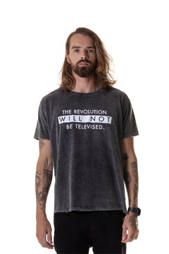 T-shirt Estonada The Revolution Will Not be Televised - Masculina