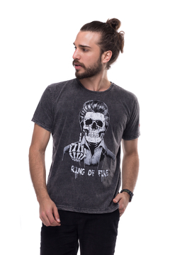 T-shirt Estonada Skull Johnny Cash - Masculina