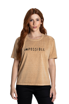 T-shirt Box Estonada Impossible - Feminina