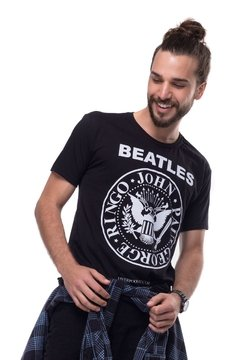 T-shirt Beatles Ramones - Masculina