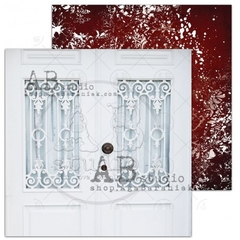 "AB Studio - Papel ""Winter Doors"" - A Holly Jolly Christmas"