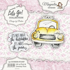 Carimbo Magnolia LG Let´s Go! Taxi & Journey Text